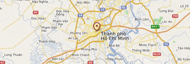 Carte Hồ Chí Minh-Ville (Saigon) - Vietnam