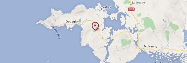 Carte Achill Island (Oléan Acla) - Irlande