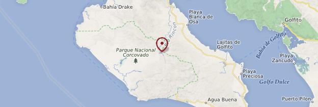 Carte Péninsule d'Osa - Costa Rica