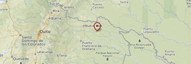 Carte Réserve du Cuyabeno - Équateur