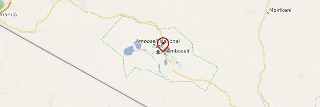 Carte Parc national d'Amboseli - Kenya