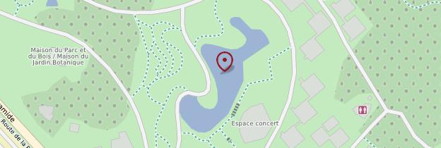 Carte Parc Floral de Paris - Paris