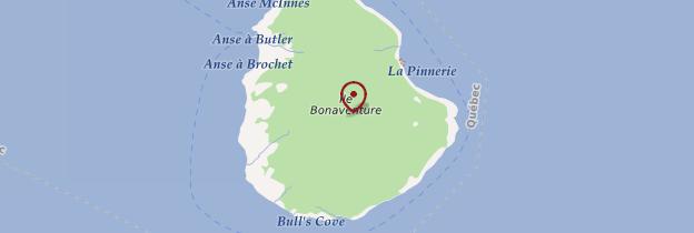 Carte Île Bonaventure - Québec