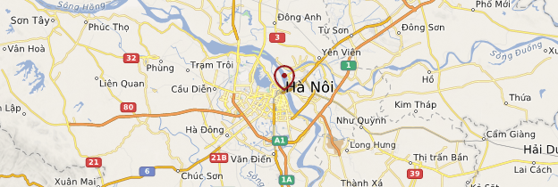 Carte Hanoi - Vietnam