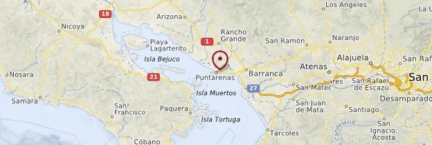 Carte Puntarenas - Costa Rica
