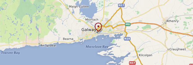 Carte Galway (Gaillimh) - Irlande