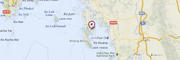 Carte Ko Lanta - Thaïlande