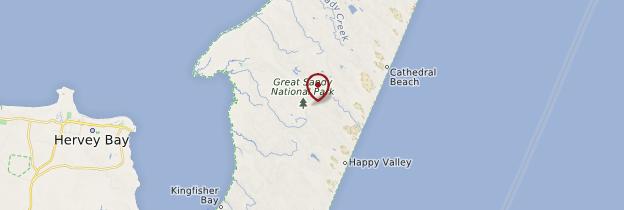 Carte Fraser Island - Australie