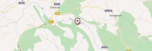 Carte Cascades du Hérisson - Franche-Comté