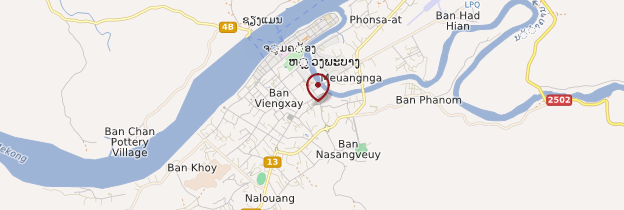 Carte Gare routière - Laos