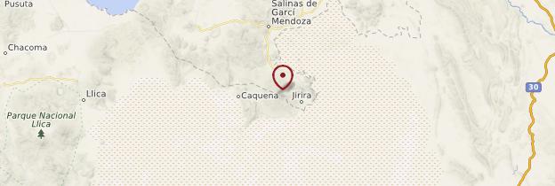 Carte Volcan Tunupa - Bolivie
