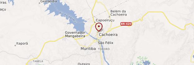 Carte Cachoeira - Brésil