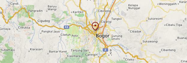 Carte Bogor - Indonésie