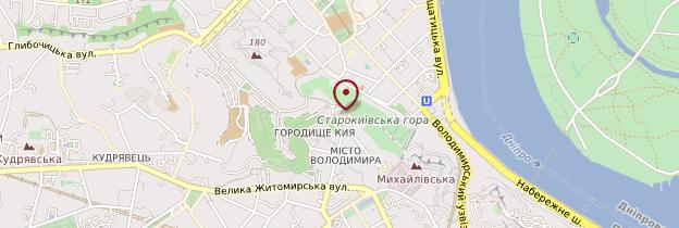 Carte Église Saint-André de Kiev - Ukraine