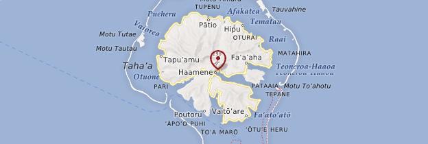 Carte Haamene - Polynésie française