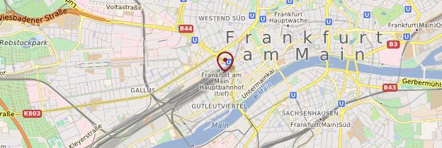 Carte Gare centrale de Francfort-sur-le-Main - Allemagne