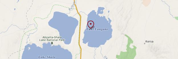 Carte Lac Langano - Éthiopie