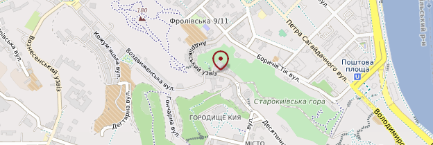 Carte Descente Saint-André (Andriyivskyy Uzviz) - Ukraine