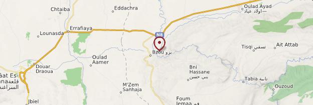 Carte Bzou - Maroc