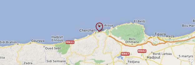 Carte Cherchell - Algérie
