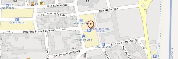 Carte Hôtel de ville de Soissons - Picardie