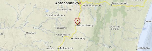 Carte Ambatolampy - Madagascar