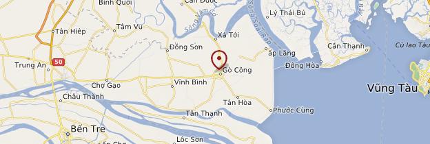 Carte Gò Công - Vietnam