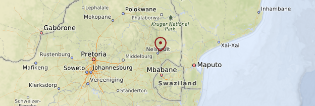 Carte Nelspruit - Afrique du Sud