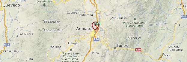 Carte Ambato - Équateur