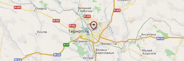 Carte Ternopil - Ukraine