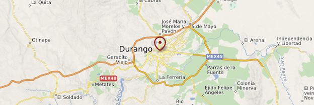 Carte Durango - Mexique