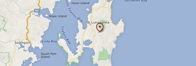 Carte Bruny Island - Tasmanie