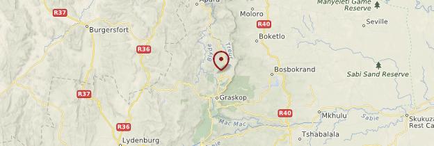 Carte Berlin Falls - Afrique du Sud