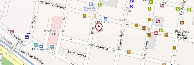 Carte Iglesia de San Francisco - Équateur