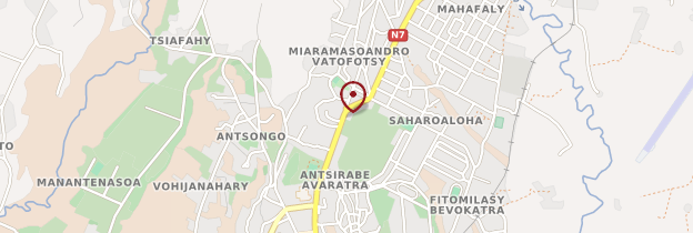 Carte Gare routière d'Antsirabe - Madagascar