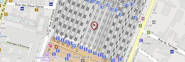 Carte Gare de l'Est - Paris