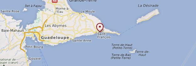 Carte Plage des raisins clairs - Guadeloupe