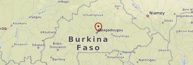 Carte Ouagadougou et ses environs - Burkina Faso