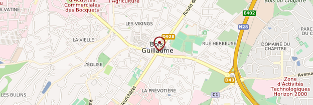 Carte Bois-Guillaume - Normandie