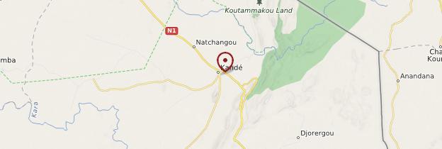 Carte Kandé (Kanté) - Togo
