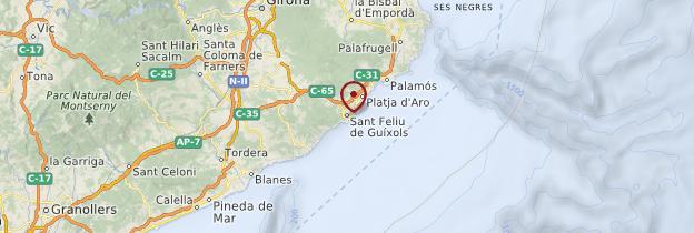 Carte Sant Feliu de Guíxols - Catalogne