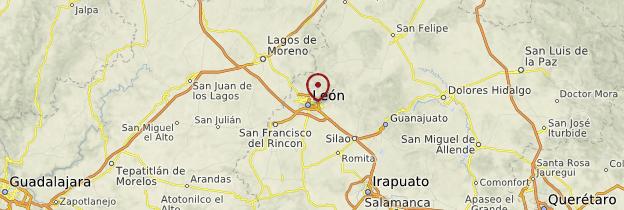 Carte Valle de los Hongos - Mexique