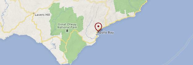 Carte Apollo Bay - Australie