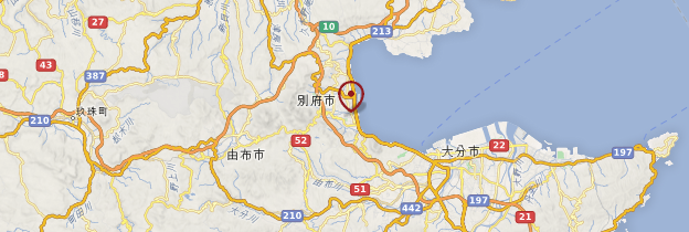 Carte Beppu - Japon