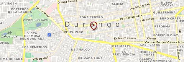 Carte Plaza de Armas de Durango - Mexique