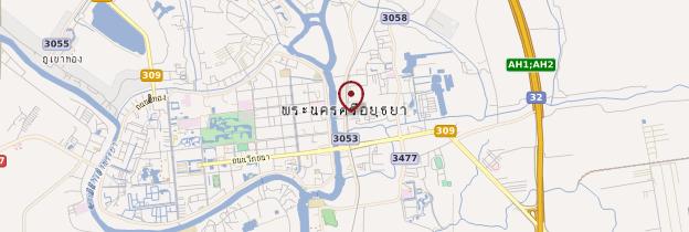 Carte Gare d'Ayutthaya - Thaïlande