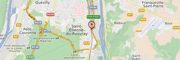 Carte Saint-Etienne-du-Rouvray - Normandie