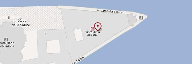 Carte Punta della Dogana (Pointe de la Douane) - Venise
