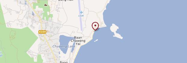 Carte Chaweng Beach - Thaïlande