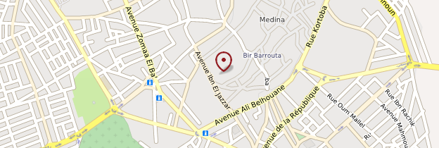 Carte Bir Barouta - Tunisie